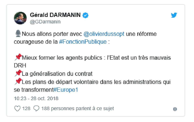 Gerald Darmanin Perturbe Le Message Sur La Transformation De L